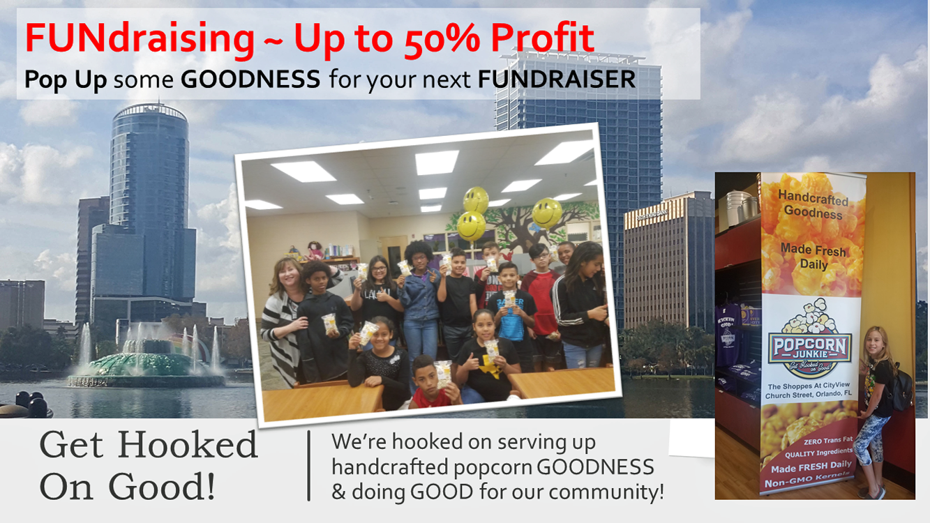 Popcorn Fundraising with Popcorn Junkie