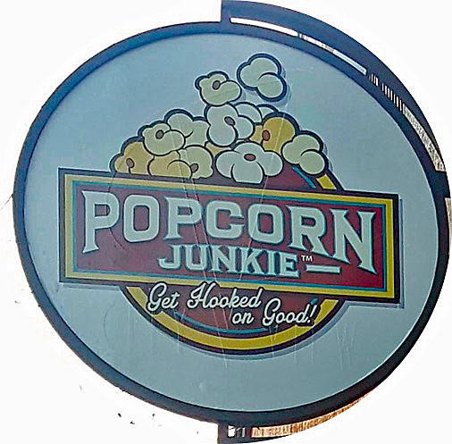 Popcorn Junkie Retail Sign